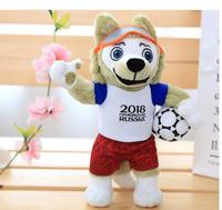 Russian World Cup mascot doll stuffed Wolf zabiwaka doll football souvenir gift European statue home decoration wedding