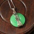 Jade Pendant Ожерелья, Китайский Элемент Реального Чистая Стерлингового Серебра 925 Новое Прибытие Ювелирных Изделий S0042
