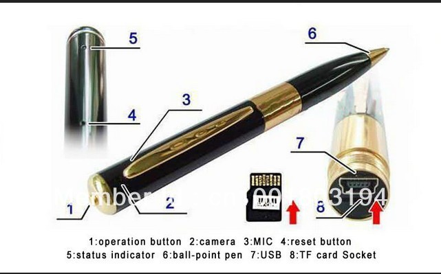 wholesale HD Mini  Camera DVR Pen Video Hidden Recorder 720*480 Camcorder Card Slot Support Up To 16 GB