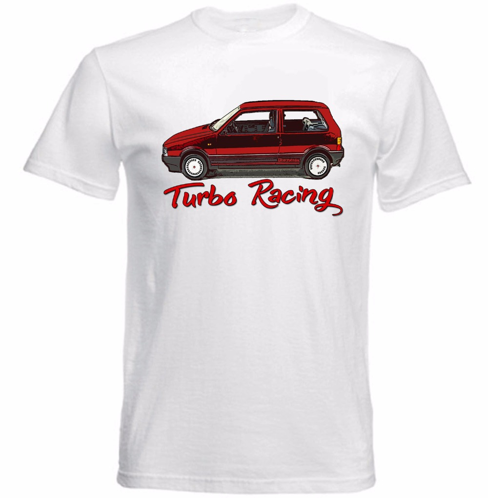 2017 new fashion summer Shirts Homme Novelty T shirt Men VINTAGE ITALIAN UNO TURBO RACER create your own shirt