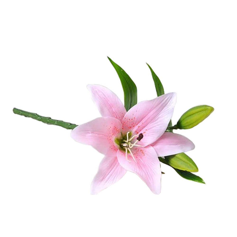 2018 New 1pcs Real Touch Pvc Artificial Lily Flowers For Wedding