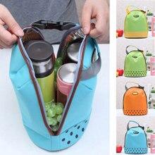 Портативная сумка-холодильник, Холщовая Сумка для обеда, Термосумка для еды, пикника, Bento, сумки для обеда, Bolsa Termica