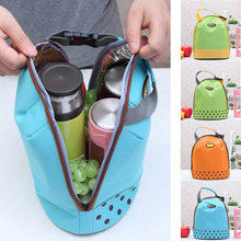 Portable Cooler Tote Insulated Canvas Lunch Bag Thermal Food Picnic Bento Lunch Bags Bolsa Termica цена 2017
