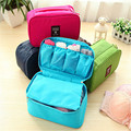 2017 New Women Waterproof Travel Bag Travel Accessories Cosmetic Portable Protect Bra Underwear Lingerie Case Free Shipping P326