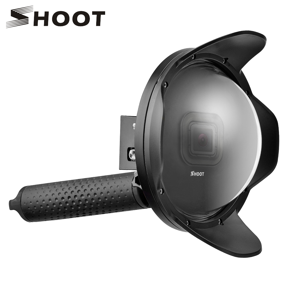 SHOOT 6 inch Diving Dome Port For GoPro Camera Go Pro 7 6 5 Black Sports