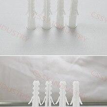 5,6, 7,8, мм анкерный болт настенная вилка пластиковый дюбель оконные шторы фоторамка части пластик белый цвет