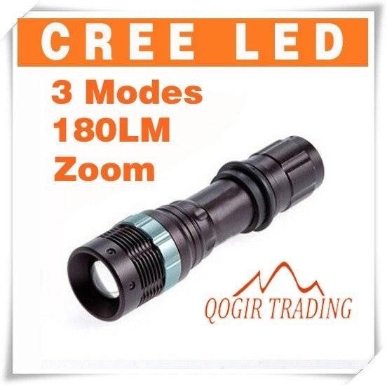 CREE 3 Modes 180 Lumens Waterproof LED Flashlight Torch 6175