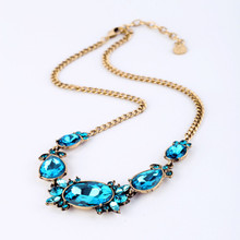 Fashion accessories brief design vintage short necklace
