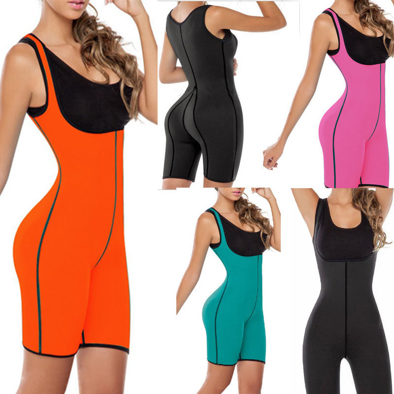 Palicy Neoprene Womens Shaper Set Sauna Slimming Bodysuit Sweating Corset Full Body Shaperwear Cincher Drop Shipping