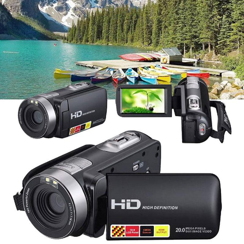 Portable 3.0 inch LCD 1080P HD IR Night Vision Digital Cameras Video Camcorder DV DVR Cam Consumer Camcorders US Plug