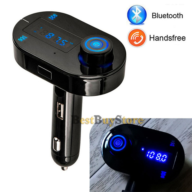 New Bluetooth Car Kit Handsfree with LCD Display FM Transmitter USB Charger for iPhone for SAMSUNG for LG fit Lots of Mobile