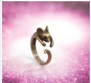 R049 HOT! Fashion New Design!Cute Mouse ring ! Rings Jewelry wholesales!! Freeshipping!
