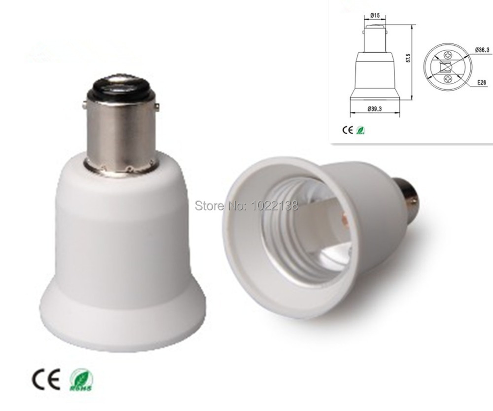 Table lamp socket - 20pcs Pendant Lamp Ba15d To E26 Led Socket Adapter Wall Lamp Table Lamp Holder Ba15d