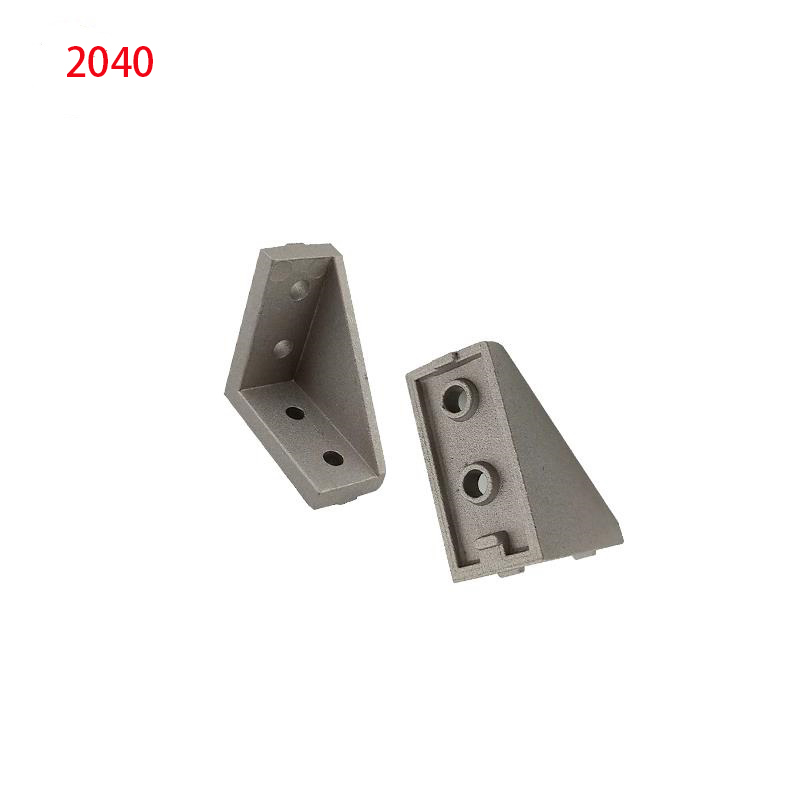 High Quality 2040 Corner Fitting Angle Aluminum 20 X 40 L Connector Bracket Fastener Match Use 2040 Industrial Aluminum Profile