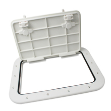 WHITE MARINE BOAT DECK ACCESS HATCH & LID 42.5cm x 31.5cm x 2cm Non-Slip Surface Durable Sealed Rubber Strip