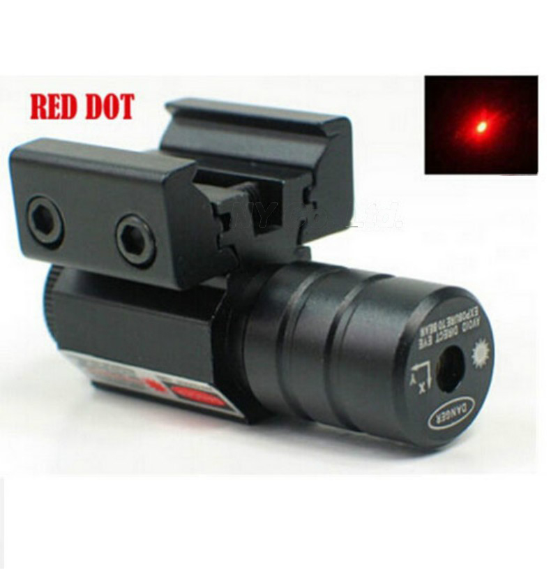 Small Red Dot Laser Sight with 50-100 Meters Range 635-655nm for Pistol Adjustable 11mm 20mm Picatinny Rail