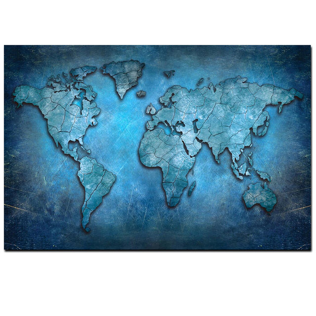 Big size abstract 3d world map canvas painting modern globe map print on canvas for office room picture wall art cuadros decor big size abstract 3d world map canvas painting modern globe map print on canvas for office room picture wall art cuadros decor g Choice Image
