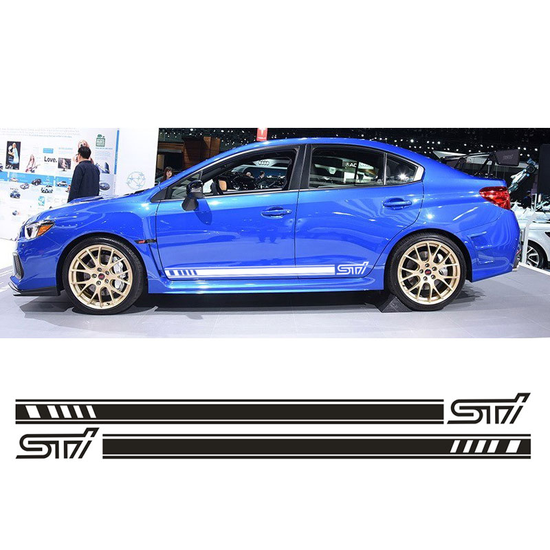 Automobiles & Motorcycles Modest Automobile For Subaru Impreza Sti Side Racing Stripes 023 Decals Stickers Graphics Lu-y03uh