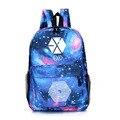 2016 легкий экзо сумка вентиляторы сумка ранцы idol поддержка небо рюкзак для девушки kpop колледж подросток путешествия mochilas 202 т