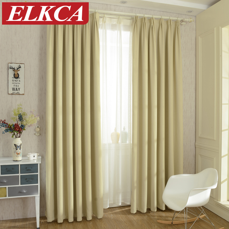 Buy 2016 lemon yellow faux linen modern curtains for living room blackout - Modern bedroom curtains drapes ...