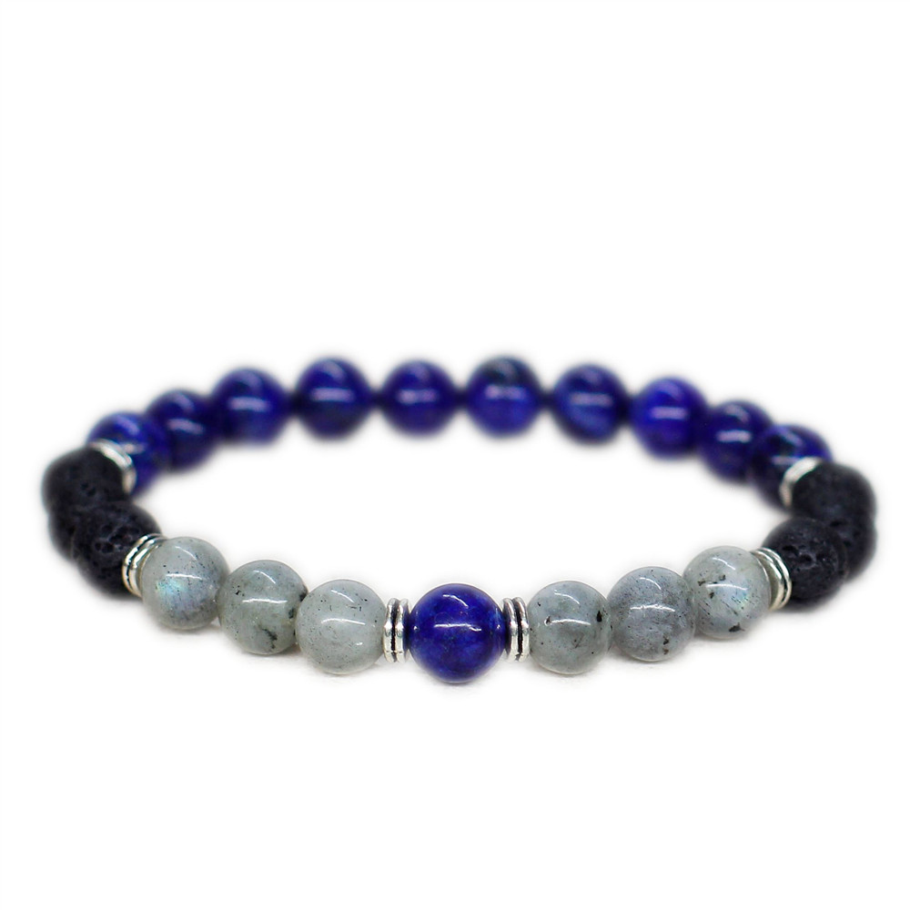 12pcs/lot Lapis lazuli Men bracelet Reiki heal bracelet Father day gift for men gift for boyfriend dad husband him gift