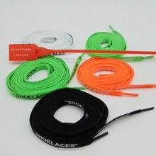 """Vierodis черный белый оранжевый зеленый OW печать """"шнурки"""" шнурки с застежкой-молнией белый"""