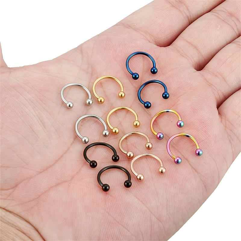 Tiancifbyjs 20g 16g Nose Rings Hoop Stainless Steel Nose Piercing
