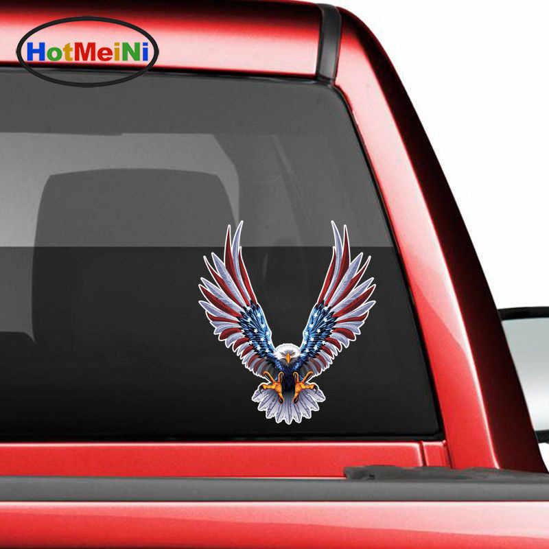 HotMeiNi 3D автомобильный стикер Американский национальный свирепый с флагом США и орлом крыло животного велосипед бампер кузова Стайлинг Аксессуары-наклейки подарки