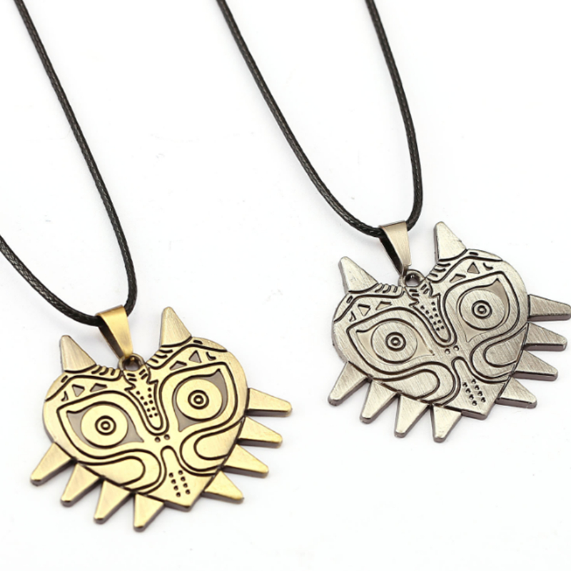 2 Models The Legend of Zelda Wizard Mask Owl Necklace Game Cosplay Metal Necklace Pendant Accessories Gifts image