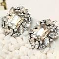 Hot HOT HOT mulheres moda brincos de marca New chegada doce de metal com pedras preciosas stud brinco de cristal para mulheres meninas jc za