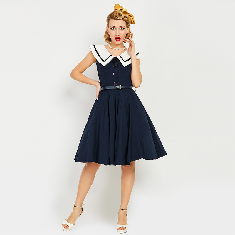 Retro Vintage Sailor Dress