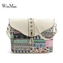 Winmax  Summer Shoulder Flap Bag tassel Women Small Beach Phone Bag protable Ladies Floral Crossbody Messenger Bags For Girls
