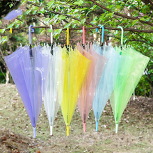 Rain Long Handle Umbrella Plastic Transparent Starry Night Clear Gift Ideas Rainbow Silk Guarda Chuva Umbrellas 50KO075