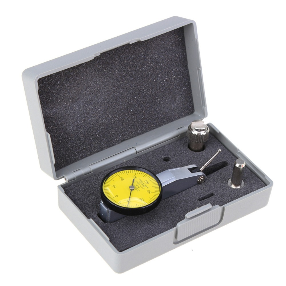 0-0.8mm Precision Waterproof Dial Gauge Test Lever Indicator Dial Gauge Scale Meter Accuracy Indicator Center Finder Micrometre