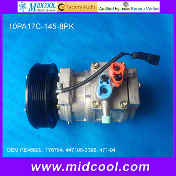 Compresor de CA automático de alta calidad 10PA17C para RE46609 TY6764 447100-2388 471-04