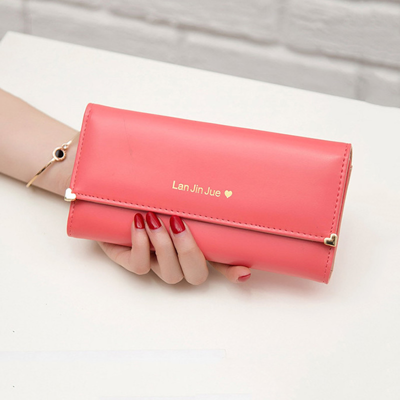 Hot Luxury Long Women's Purse Famous Female Brand Women Wallet Money Bags Lady Coin Purse Fashion Design Candy Color Clutch Bag 2017 purse wallet big capacity female famous brand card holders cellphone pocket gifts for women money bag clutch passport bags