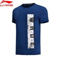 Li Ning Men Wade Series Basketball Jersey 100% Cotton Breathable Comfort LiNing Fitness Sports T Shirt AHSN071 MTS2793
