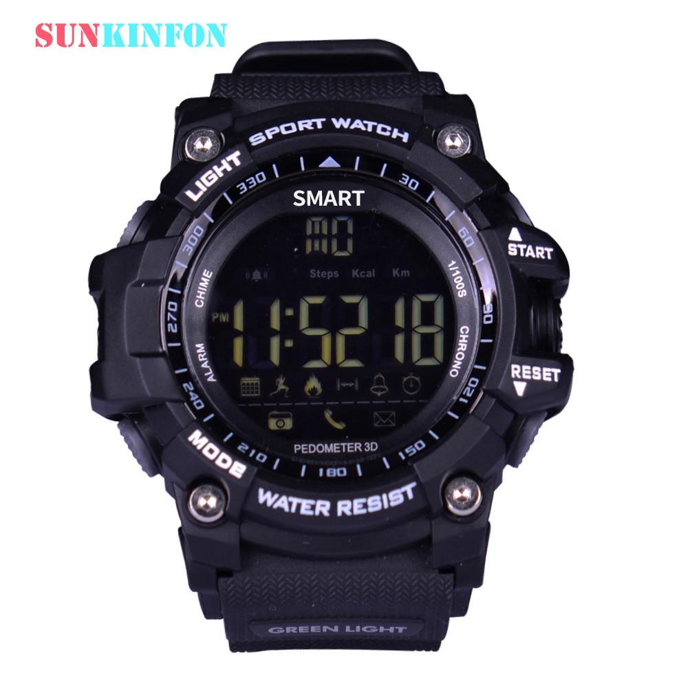 Sunkinfon свет Sx16 Smart часы мужские спортивные часы 5ATM Водонепроницаемый Шагомер Bluetooth 4.0 вызова SMS напоминание Секундомер Будильник