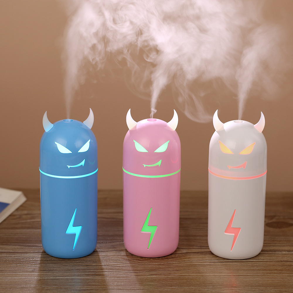 190ML Little Devil Style Humidifier Colorful Breathable Ligth Mist Maker Ultra Fine Atomizer
