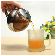 HOT Modern Stylish Stainless Steel   Glass Teapot With Loose Tea