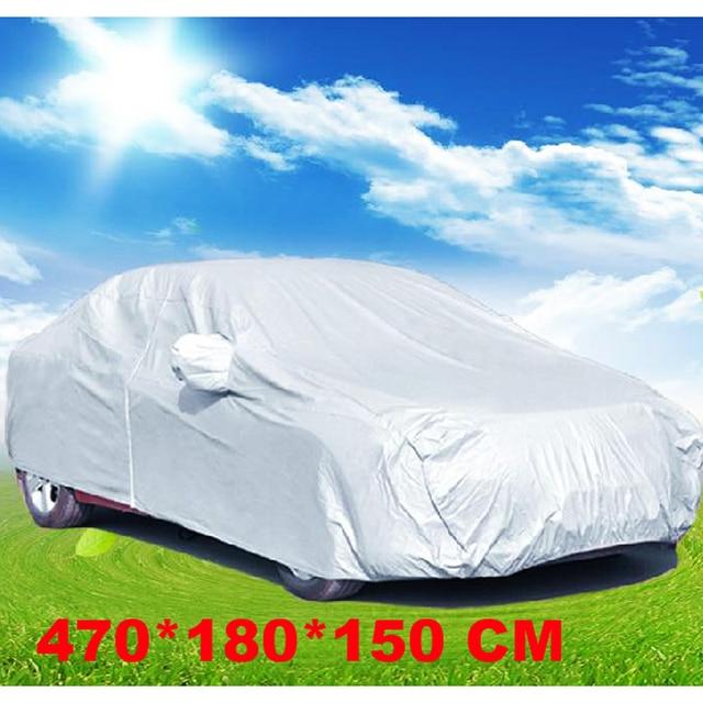 Impermeable Anti UV Lluvia Nieve Cubierta Al Aire Libre Completo Car Auto Interior Resistente A Prueba de Polvo Anti-arañazos Tamaño L 470*180*150 E # A
