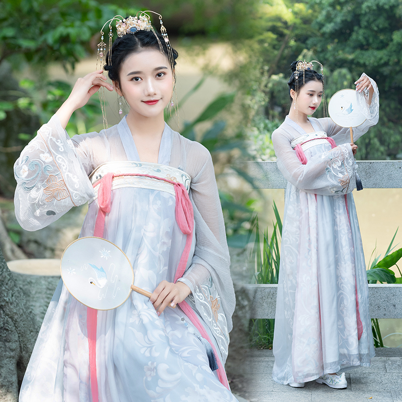 Hanfu Dress Women Hanfu Costumes Chinese Traditional And Ancient Embroidered Clothes Chinese Performance Folk Dance Wear DQL358