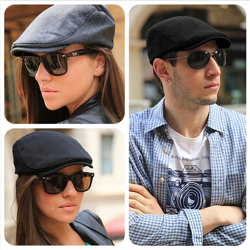 Beret-Cap Large-Size Painter-Hat Male Cotton Women Man 54-56cm 56-58cm 58-60cm Big-Head