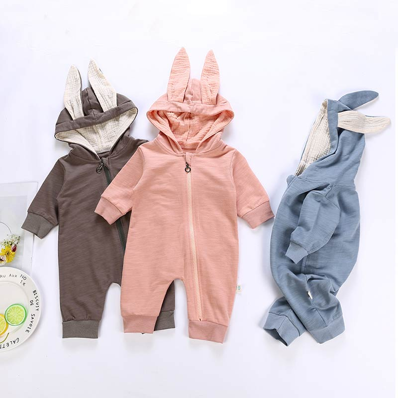 Beenira   Rompers   2019 Newborn 3D Cartoon Hooded Costume   Rompers   Warm Spring Autumn Cotton   Romper   Playsuit Clothes 0-24M