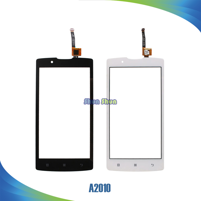10pcs/lot A2010 Touch Screen for Lenovo A2010 Touch Screen Digitizer Sensor Front Glass Lens Panel Black White Mobile Phone Part