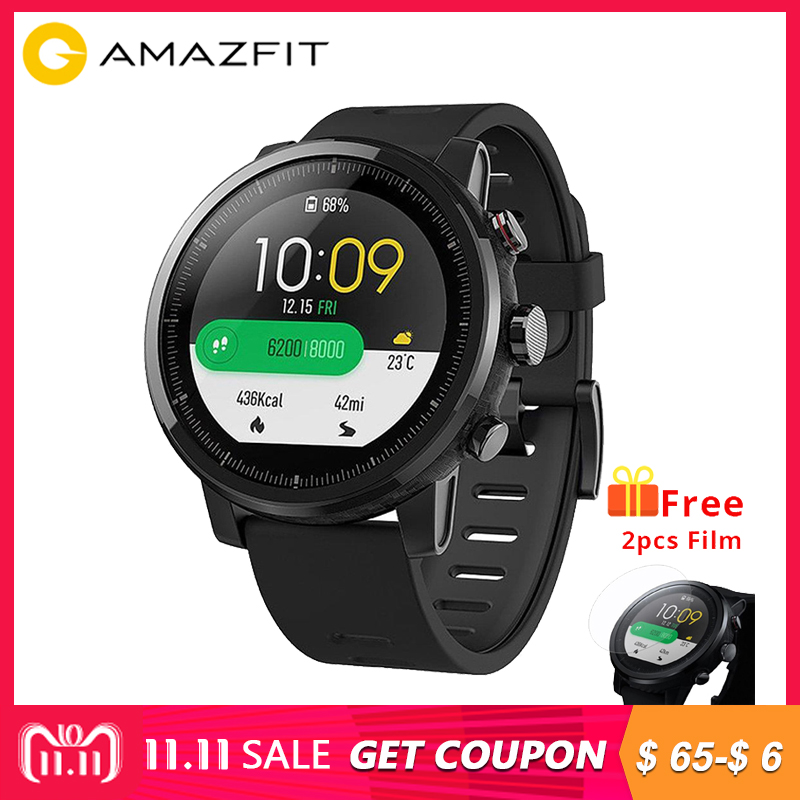 eff583c05  English Version Huami Amazfit Stratos Pace2 Smart Watch Sports 1.34 Inch  2.5D Screen 5ATM Water Resistant GPS Firstbeat vs cor2