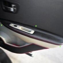 Для Nissan QASHQAI J10 2007- 4 шт. микрофибра кожа дверные ручки панели подлокотники Защитная отделка с креплением фитинги