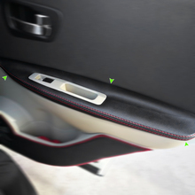 Для Nissan QASHQAI J10 2007-2015 2 шт. из микрофибры дверные ручки подлокотники охватывает защитная накладка с креплением фитинги