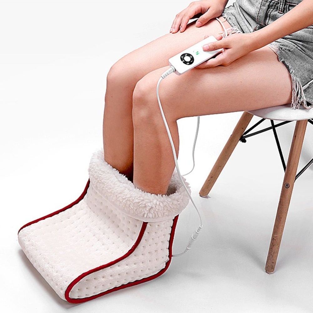Cosy Heated Plug-Type Electric Warm Foot Warmer Washable Heat 5 Modes Heat Settings Warmer Cushion Thermal Foot Warmer Massage