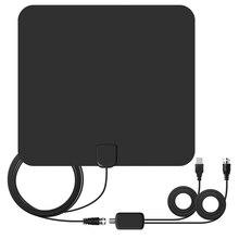 Хорошее ТВ HD ТВ 1080 P цифровой Телевизионные антенны 65 милях ряд indoor Телевизионные антенны 16ft коаксиальный с Усилители домашние